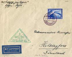 O/cover 1930, 2RM., Lilaultramarin, Bordpostbrief Von Ostseefahrt 1930, Nach HELSINKI/Finnland, Mit Ankunftsstempel, P - Zonder Classificatie