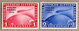 ** 1933, 1 RM, Karmin, Und 2 RM, Ultramarin, (2), Polarfahrt, Beide Postfrisch, Attest Stastny, XF!. Estimate 1.650€. - Zonder Classificatie