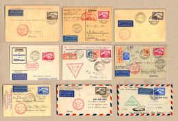 Cover 1930-1933, Schöne Sammlung Von (5) Zeppelinbriefen Und (4) -karten, Insg. (9) Stück, 5x Südamerikafahrt, 2x Polarf - Zonder Classificatie