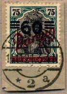 O/piece 1921, 60 Auf 75 Pf., Schwärzlichgrünblau/gelbschwarz, Auf Briefstück, Wertaufdruck Nach Unten Verschoben, Mit Lu - Zonder Classificatie