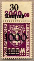 ** 1923, 1000 Auf 100 M. Violettpurpur, Aufdrucktype I, Mit Reihennummer Im Oberrand, Tadellos Postfrisch, Kabinett, XF! - Zonder Classificatie