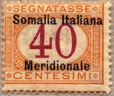 * 1906, 40 C., Orange And Carmine, MH, Black Overprint, F!. Estimate 1.000€. - Italien