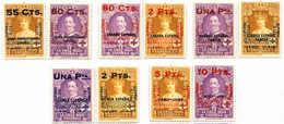 ** 1927, Set Of (10), Spanish Colonies Overprints On 1926 Red Cross Edition (SC B12,B13), MNH, VF - XF!. Estimate 400€. - Spagna