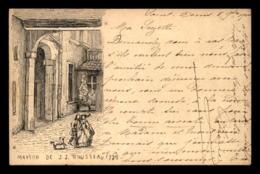 75 - PARIS - GRAVURE - MAISON DE J.J. ROUSSEAU EN 1738 - Frankreich