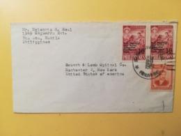 1961 BUSTA STORIA POSTALE FILIPPINE PHILIPPINE BOLLO NATIONAL SCOUT JAMBOREE  OVERPRINTED ANNULLO  OBLITERE' - Filippine
