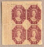 **/bof 1865-71, 6 D., Reddish Mauve, MNH, Block Of Four From The Upper Left Corner, Incl. Frame Wmk Of The Sheet, Perfec - Australien