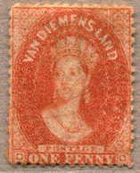 * 1864-68, 1 D., Dull Vermillion, LPOG, Wmk 4, Perf 12 1/2, Very Fresh Colour And Appealing, F-XF!. Estimate 200€. - Australien