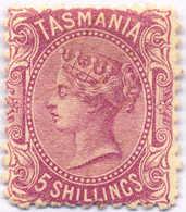 ** 1871, 5 S., Mauve, POG, Perf. 11 1/2, Perfect Rich Colour And Very Attractive, VF!. Estimate 340€. - Australien