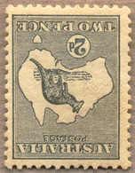 * 1913, 2 D., Grey, MH,wmk 2 INVERTED, Very Fresh And Rare, F-VF!. Estimate 150€. - Australien