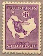 * 1915, 9 D., Violet, Die II B, INVERTED Wmk 6, Fresh And Attractive, F!. Estimate 350€. - Australien