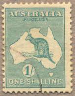 O 1915, 1 S., Blue Green, Used, Wmk 6 Sideways To Left, Very Rare, F!. Estimate 500€. - Australien