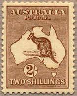 * 1913, 2 S., Brown, MH, Wmk 2, Die II, Fresh And Attractive Item, F-VF!. Estimate 320€. - Australien
