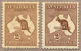 * 1915, 2 S., Brown And Dark Brown, MH, Wmk 6, Die II, Very Fine And Fresh Shades, F-VF!. Estimate 650€. - Australien