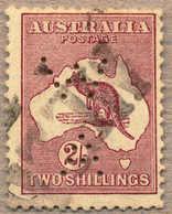 O 1913, 2 S., Brown, W A - Western Australia Perfin, With Part Cancel MELBOURNE, F!. Estimate 95€. - Australien