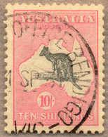 O 1929-30, 10 S., Grey Pink, Used Wmk 7, Die II, Very Well Centred, VF!. Estimate 600€. - Australien