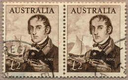 O/pair 1963-65, 2£, Sepia, Pair, Both With Cancel, VF!. Estimate 160€. - Australien