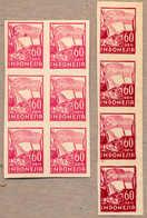 (*) 1946-47, 60 S., Carmine, Block Of (6) - Light Crimson, And Vertical Strip Of (4) - Dark Crimson, Imperforated, UNISS - Indonesia