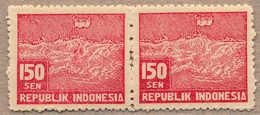 Pair/(*) 1947, 150 S., Red, Pair, P 11, NG, VF!. Estimate 130€. - Indonesia