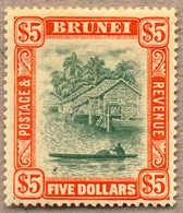 * 1908, 5 $, Carmine/green, MH, VF!. Estimate 210€. - Brunei (1984-...)
