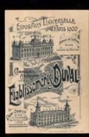 C2147 COMPAGNIE ANONYME DES ETABLISSEMENTS DUVAL EXPOSITION UNIVERSELLE PARIS 1900 AVENUE DE SUFFREN QUAI DEBILLY - Altri