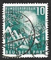 ALLEMAGNE  1949  -  Y&T  1 -  Parlement   - Oblitéré - Cote 33e - [7] República Federal