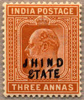 * 1903-09, 3 A., Orange Brown, NH/LPOG, DOUBLE OVERPRINT, Only One Sheet Existed, Fresh And Fine, VF!. Estimate 180€. - Indien