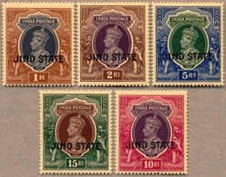 ** 1937-38, 1 R. To 15 R., MNH, Very Fresh And Fine, F-VF!. Estimate 300€. - Indien
