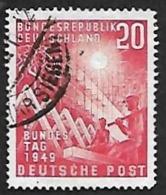 ALLEMAGNE  1949  -  Y&T  2 -  Parlement   - Oblitéré - Cote 42e - [7] República Federal