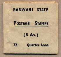 * 1941, 8 A. Booklet, 1/4 A. Slate, Narrow Setting, Complete With Eight Panes, Minor Blemishes On Reverse, Nearly Mint A - Indien