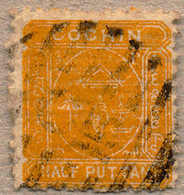 O 1893, 1/2 Put., Orange, Used, With Perf 12, Laid Paper, Rich Shade And Fresh, F-VF!. Estimate 260€. - Indien