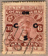 O 1922, 6 P., Red Brown, Used, With DOUBLE OPT, Very Well Centred And Exceedingly Rare Variety, VF!. Estimate 850€. - Indien