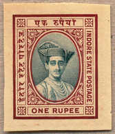 (*) 1927, 1 R., Deep Blue Green And Venetian Red, Imperf, Colour Trial Printing From The Lower Margin, Very Attractive A - Indien
