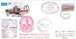 THEME POLAIRE - CAP TOWN - TRANSPORT PR HELICOPTERE - ILE MARION - RSA - 1983 - Beau Timbre NOMBREUX CACHETS - Forschungsprogramme