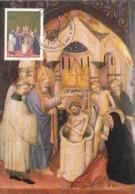 D38347 CARTE MAXIMUM CARD 1987 VATICAN - BAPTISM BY DI GENTILE - CP ORIGINAL - Religione