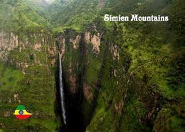 AK Äthiopien Ethiopia Simien Mountains UNESCO Waterfall New Postcard - Äthiopien
