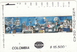 COLOMBIA(Tamura) - Boceto Mural, Painting/Enrique Grau, Tirage 10000, Used - Colombia