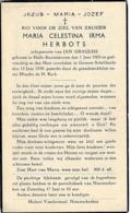 Halle-Booienhove, Gorsem-Schelfheide, 1939, Maria Herbots, Graulus - Devotieprenten
