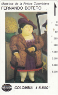 COLOMBIA(Tamura) - Mujer Con Abrigo De Piel, Painting/Fernando Botero, Tirage 19000, Used - Colombia