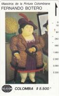 COLOMBIA(Tamura) - Mujer Con Abrigo De Piel, Painting/Fernando Botero, Tirage 19000, Used - Kolumbien