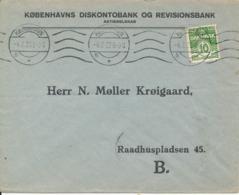 Denmark Bank Cover Copenhagen 4-7-1922 (Köbenhavns Diskontobank & Revisionsbank) Bended Cover - 1913-47 (Christian X)