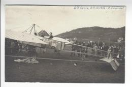 Albert CUENDET (1883 - 1933) SAINTE CROIX VAUD 27 OCTOBRE 1914 SUISSE AVIATION CARTE PHOTO AVION BLERIOT /FREE SHIP. R - Airmen, Fliers