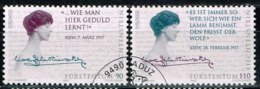 Liechtenstein 1996,Michel# 1124 - 1125 O  Europa (C.E.P.T.) 1996 - Famous Women - Liechtenstein