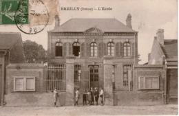 Cpa 80 BREILLY  L'Ecole  , Animée - Other Municipalities