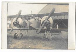 AVION AVIATION Carte Photo Avion Militaire Gros Plan - 1914-1918: 1ère Guerre