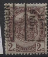 PREOS Roulette - MONS BERGEN 1911 Sans Bandelette (position A). Cat 1719 Cote 900 - Roulettes 1910-19