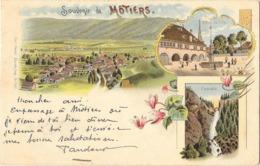 MOTIERS (Suisse) Carte Souvenir Type Gruss - NE Neuchatel
