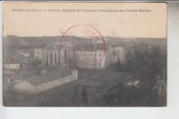 RT33.318  St-GENIS-LAVAL . RHÔNE. ANCIEN COUVENT ET  FABRIQUE D'ARQUEBUSES DES FRERES MARISTE.CACHET HOPITAL AUXILLIAIRE - Artigianato