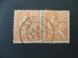 MOUCHON N° 117 EN PAIRE  OBLITERATION - 1900-02 Mouchon