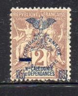 APR2817 - NUOVA CALEDONIA 1903 ,  Yvert N. 81  *  Linguella (2380A) - Ungebraucht