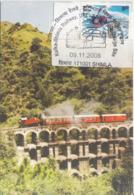 India 2008  Trains  Kalka - Shimla Railway, Unesco World Heritage Sire  Special Card  #  19429  D Indien Inde - Trains